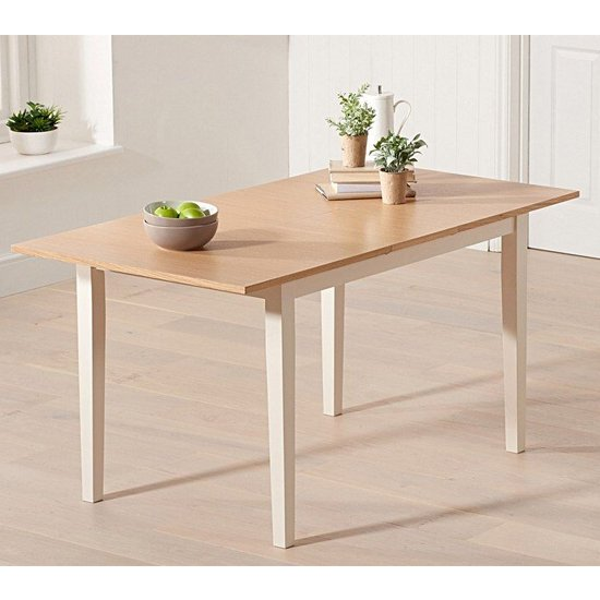 Bremen Extending Wooden Dining Table In Oak And Cream