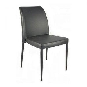 Carson PU Leather Dining Chair, Black