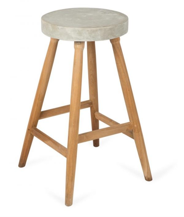 Cement and Wood New Age Bar Stool