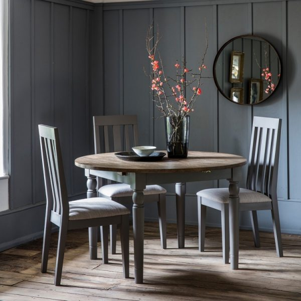 Cookham Grey Round Dining Table - Gallery Frank Hudson