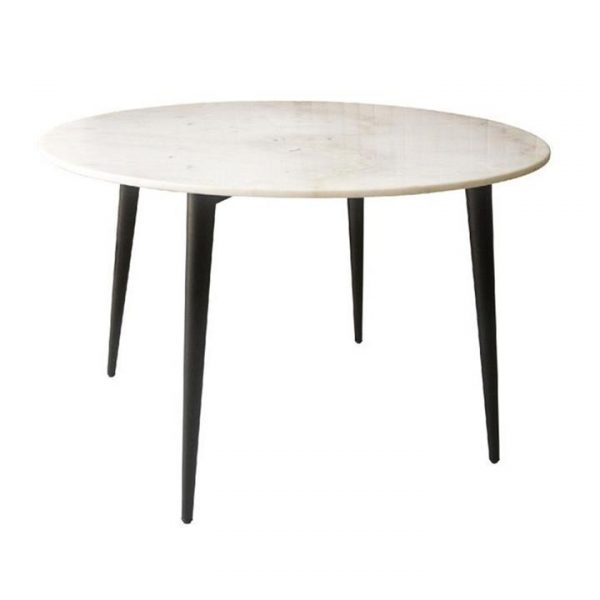 Cusseta Marble Top Round Dining Table, 120cm