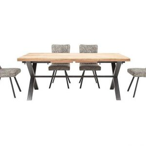 Earth Large Dining Table and 4 Chairs