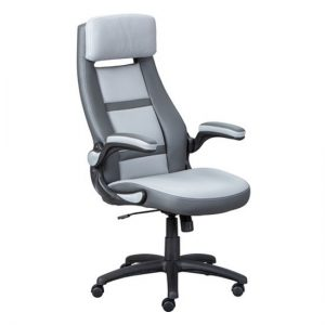 Elexo Faux Leather Home And Office Executive Chair In Dark Grey