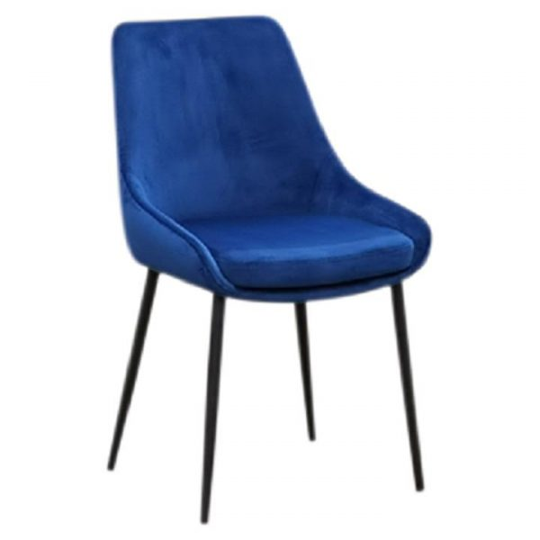 Eloy Fabric Dining Chair, Navy