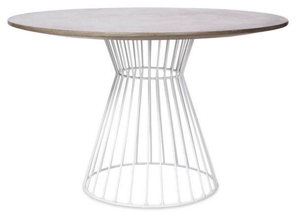 Hamptons Indoor/Outdoor Iron and Cement Dining Table