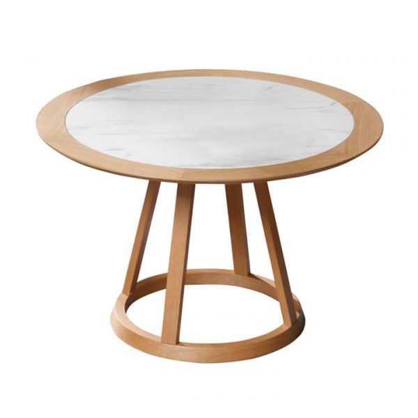 Kustin Ceramic Top Round Dining Table, 120cm