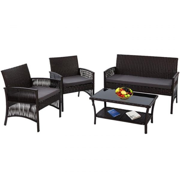 Luisetta 4-Piece Outdoor Lounge Set