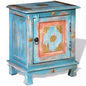 Nightstand Solid Mango Wood Blue | Afterpay | zip | Laybuy