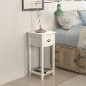 Nightstand with 1 Drawer White | Afterpay | zip | Laybuy