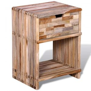 Nightstand with Drawer Reclaimed Teak Wood | Afterpay | zip | Laybuy