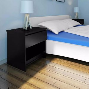 Nightstand with One-Drawer Black 2 pcs | Afterpay | zip | Laybuy