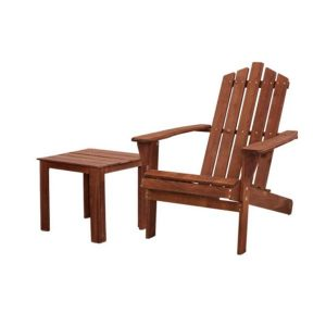Outdoor Sun Lounge Beach Chairs Table Wooden Adirondack Patio Chair