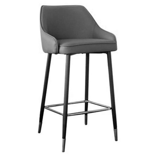 Reno PU Leather Counter Stool, Grey