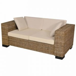 Seven Piece 2-Seater Sofa Set Real Rattan | Afterpay | zip | Laybuy
