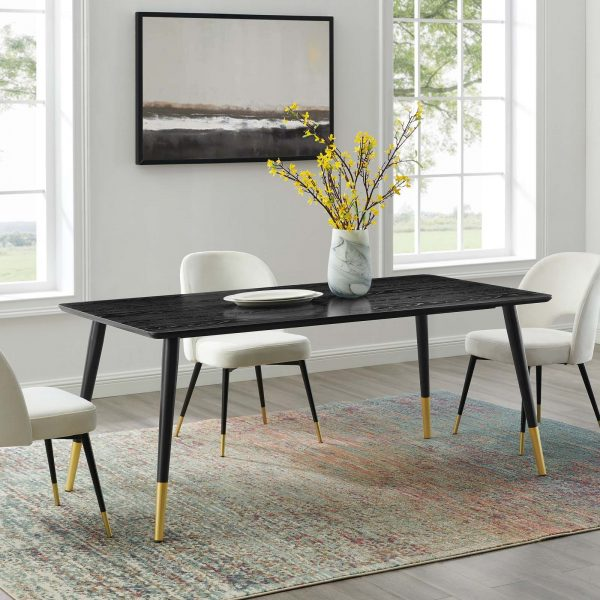 "Vigor 71"" Rectangular Dining Table in Black"