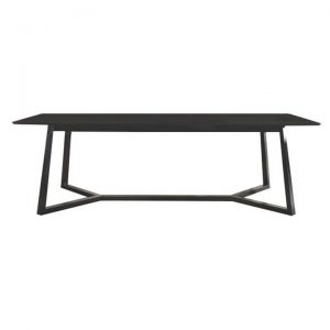 Waco Wooden Dining Table, 240cm, Black