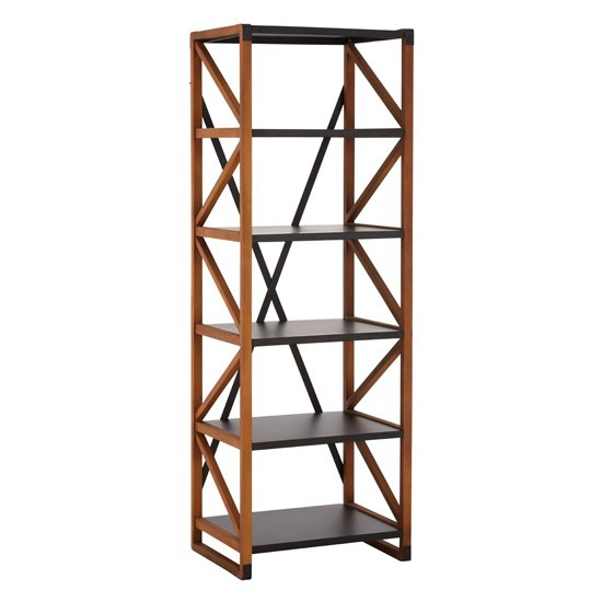 Ashbling 5 Tiers Wooden Bookcase In Natural