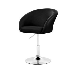Bar Stools Accent Chairs Kitchen Swivel Gas Lift Leather Black