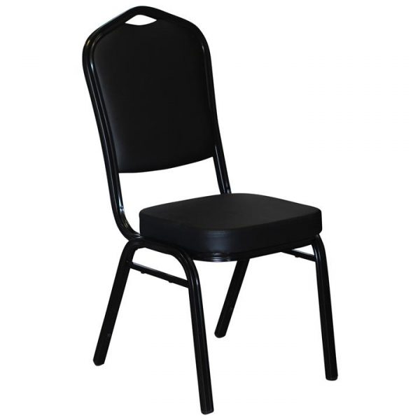 Bornard Commercial Grade Metal & PU Leather Stackable Bistro Dining Chair