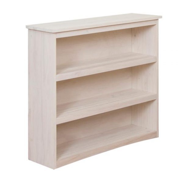 Byron Pine Timber Low Bookcase, Vanilla