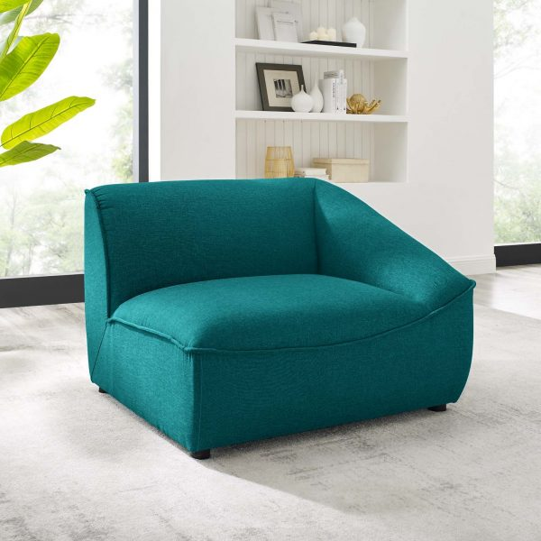 Comprise Right-Arm Sectional Sofa Chair in Teal