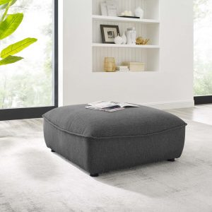 Comprise Sectional Sofa Ottoman in Charcoal