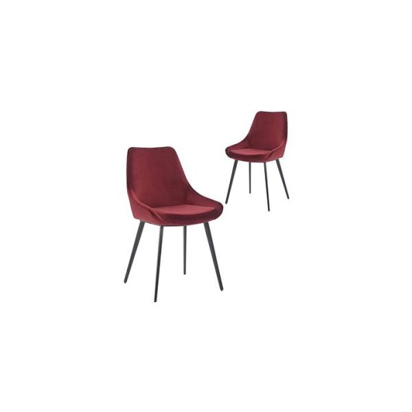Daimyo Velvet Dining Chair (Set of 2)