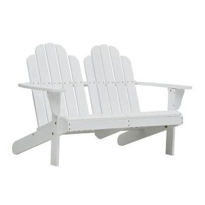 Double Adirondack Chair Wood