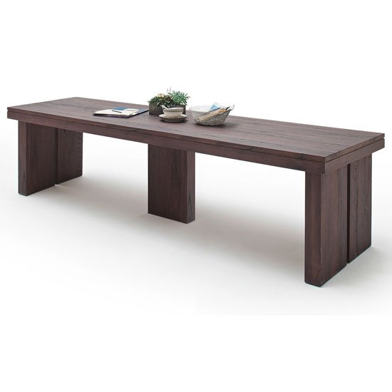 Dublin 300cm Wooden Dining Table in Solid Weathered Oak