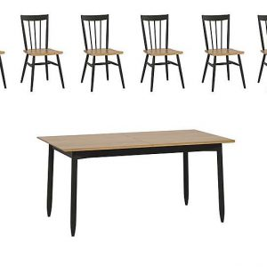 Ercol - Monza Small Extending Dining Table and 6 Dining Chairs