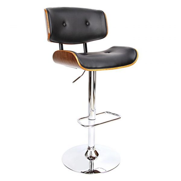 Georgianna Bar Stool, Black