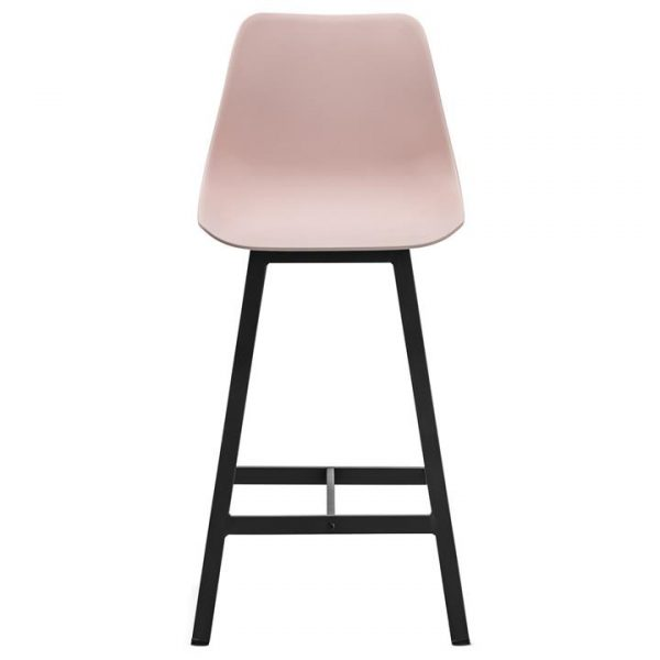 Hanns Polycarbonate & Stainless Steel Counter Stool, Set of 2, Blush / Black