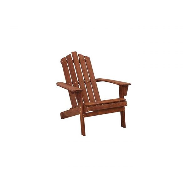 Kenway Wooden Adirondack Patio Chair, Brown (Set of 3)