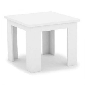 Mosko Small High Gloss Wooden Dining Table In White