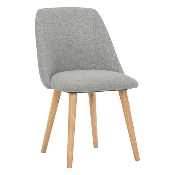 Nobu Dining Chair, Fabric, Wooden Legs