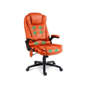 PU Leather 8-point Massage Office Chair Amber