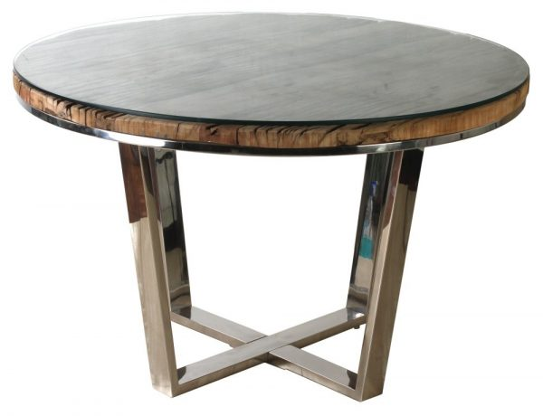 Reclaimed Sleeper Wood 120cm Round Dining Table