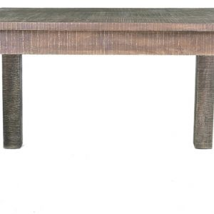 Urban Deco Shabby Chic Dark Distressed Rectangular Dining Table - 150cm