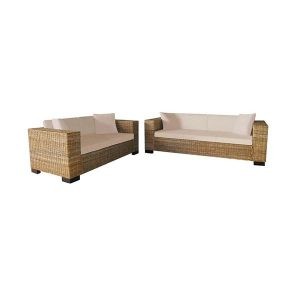 2 And 3 Seater Sofa Set Real Rattan