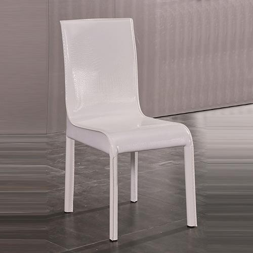 2X Espresso Dining Chair White Colour