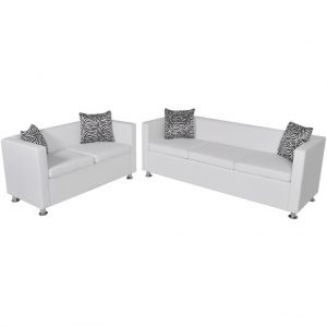 3-Seater And 2-Seater Sofa Set - White