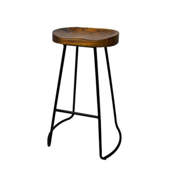 4 Pcs Vintage Tractor Retro Bar Stool Industrial Chairs Black