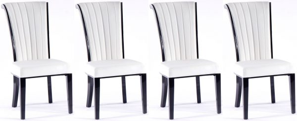 4 x Nova White Faux Leather Dining Chair