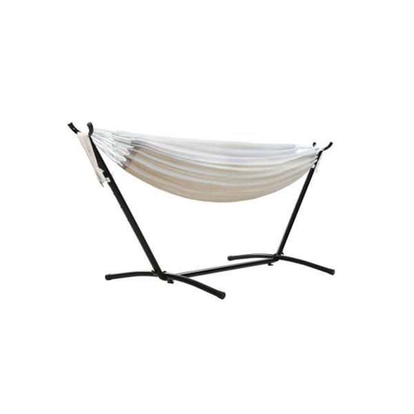 Camping Hammock With Stand Cotton Rope Lounge Outdoor Swing Bed