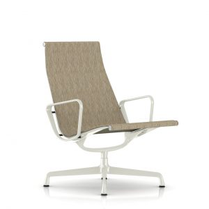 Eames Aluminum Outdoor Lounge Chair in Jute Weave by Herman Miller