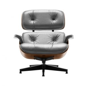 Eames Lounge Chair in Smoke Leather by Herman Miller
