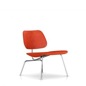 Eames Molded Plywood Lounge Chair in Red Stain by Herman Miller