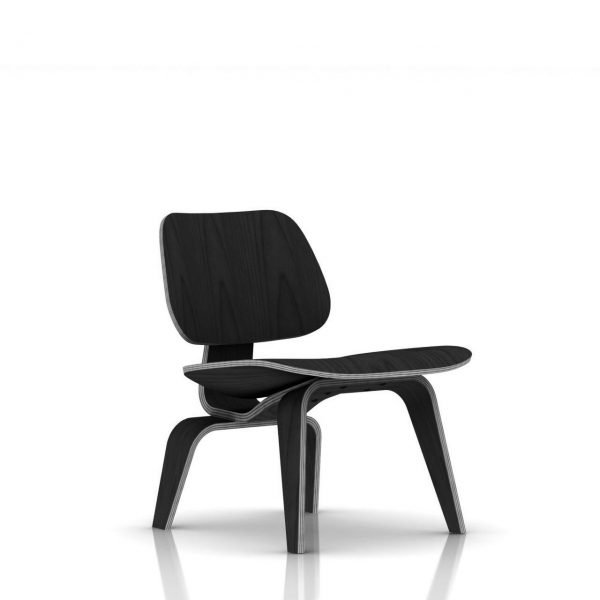 Eames Plywood Lounge Chair in Ebony by Herman Miller