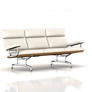 Eames Sofa in Pearl White MCL Leather by Herman Miller