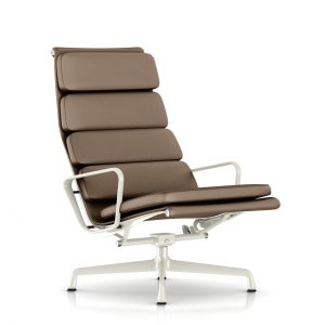 Eames Soft Pad Lounge Chair in Clay MCL Leather by Herman Miller